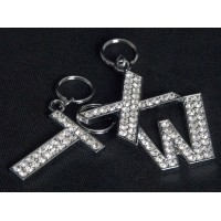 Bling Letter Cat or Dog Id Tags